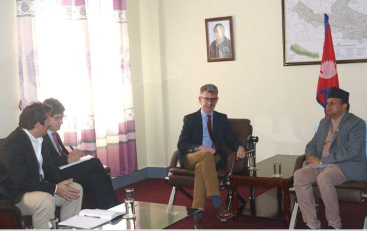 मुख्यमन्त्री पोखरेलसँग बेलायती राजदूत मोरिकको भेट
